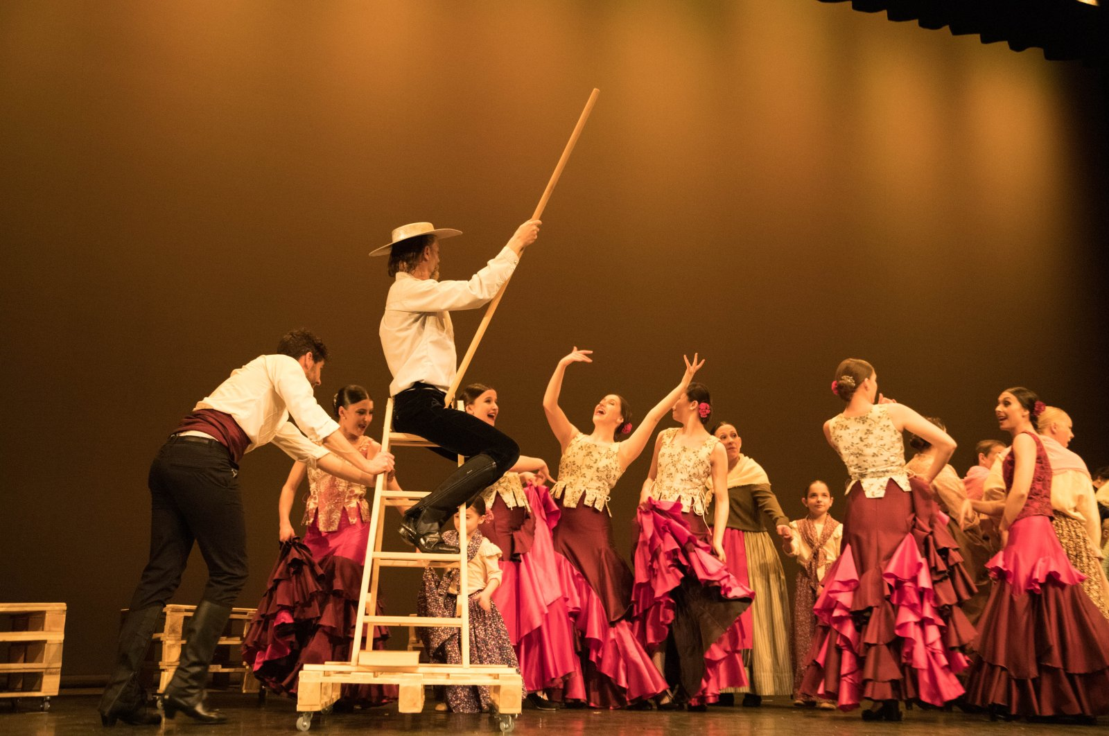 "A scene from the ""Don Quixote"" show by the Jose Huertas Flamenco Ensemble."
