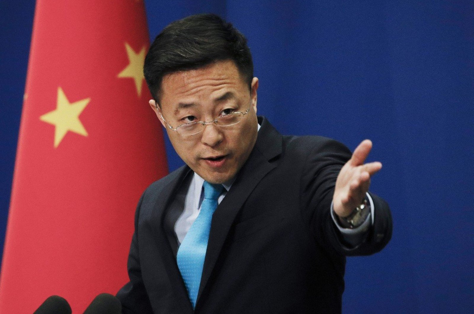 A file photo of Chinese Foreign Ministry Spokesman Zhao Lijian. (AP Photo)
