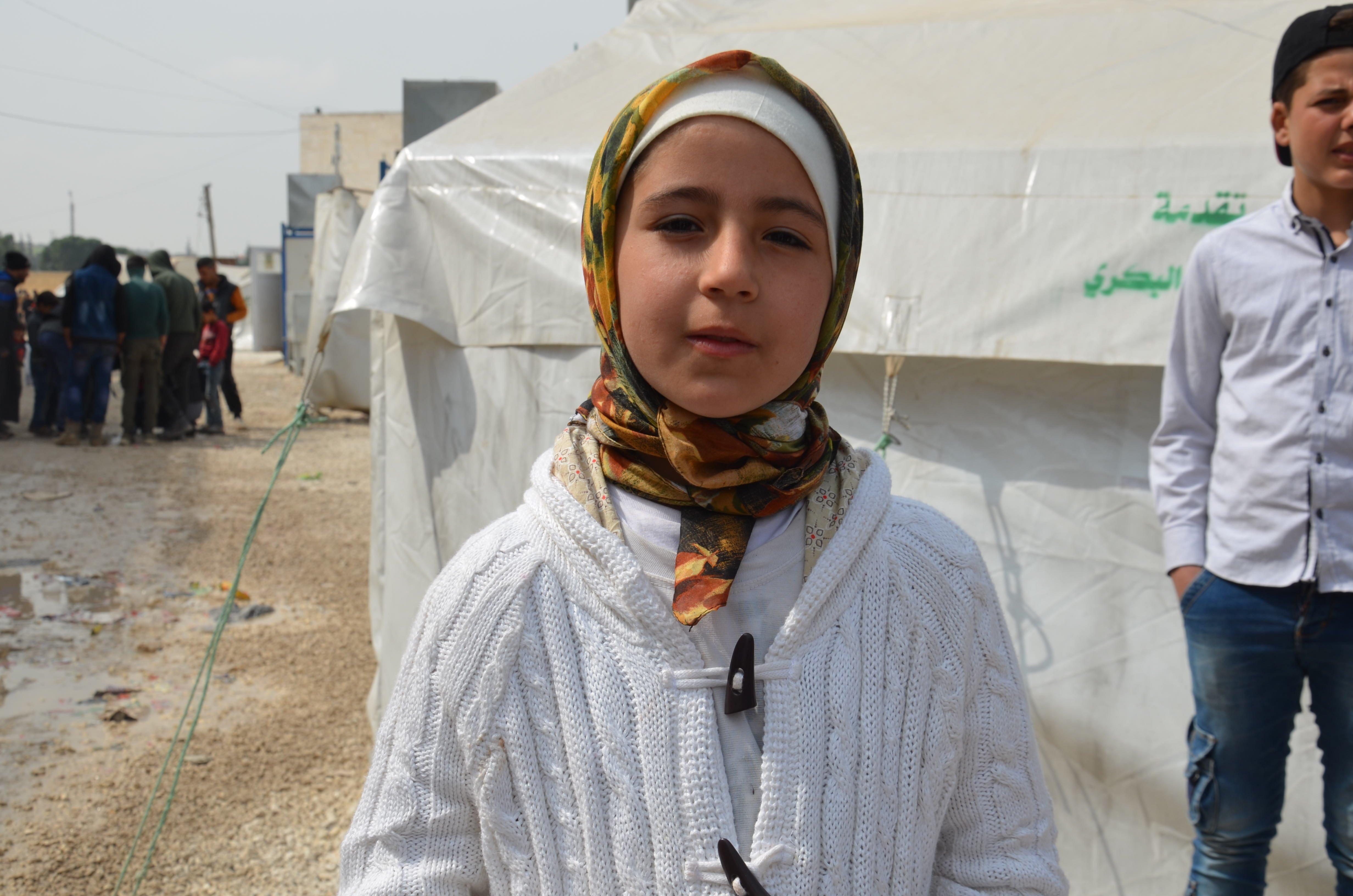 10-years-old Asma Maruf. (IHA)