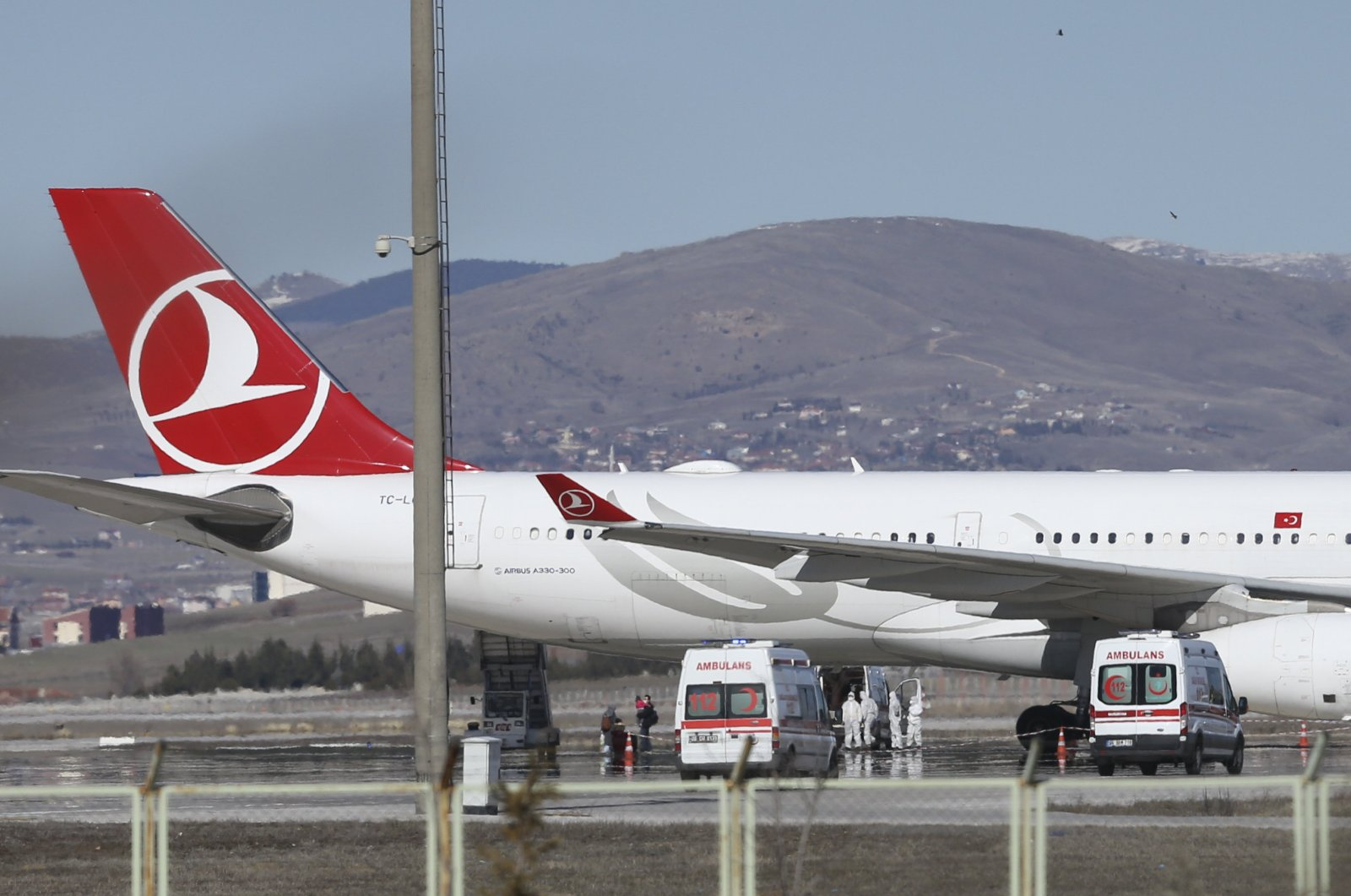 A Turkish Airlines plane pictured at the Esenboğa Airport in Ankara (AA Photo)