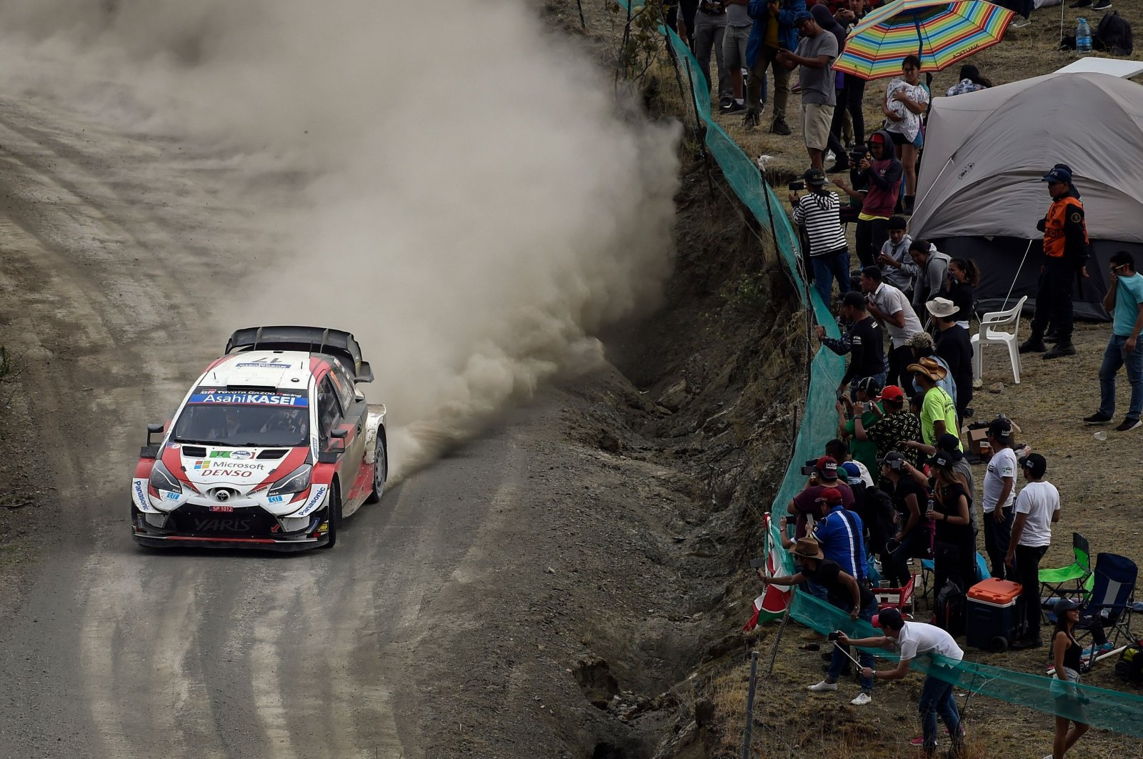 Sebastien Ogier and co-driver Julien Ingrassia compete during the fourth stage, Leon, Mexico, March 14, 2020. (AFP Photo)