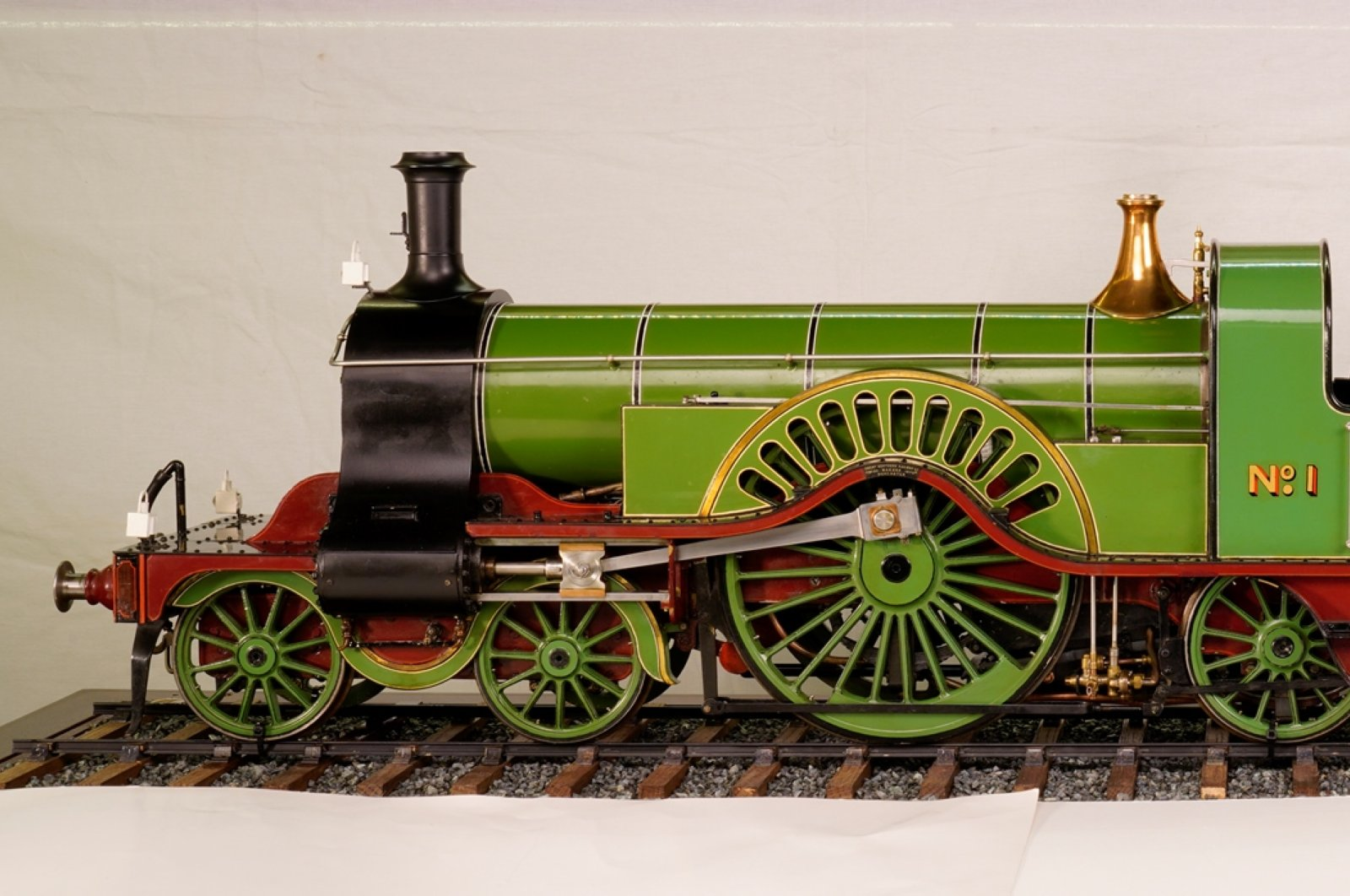 Express Locomotive Model No. 1 was designed by Patrick Stirling.