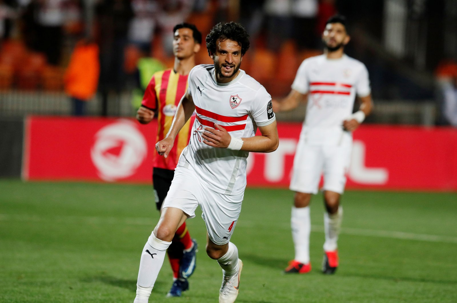 Zamalek's Mahmoud Alaa celebrates a goal in the quarter final against Esperance Sportive, Cairo, Feb. 28, 2020. (REUTERS Photo)