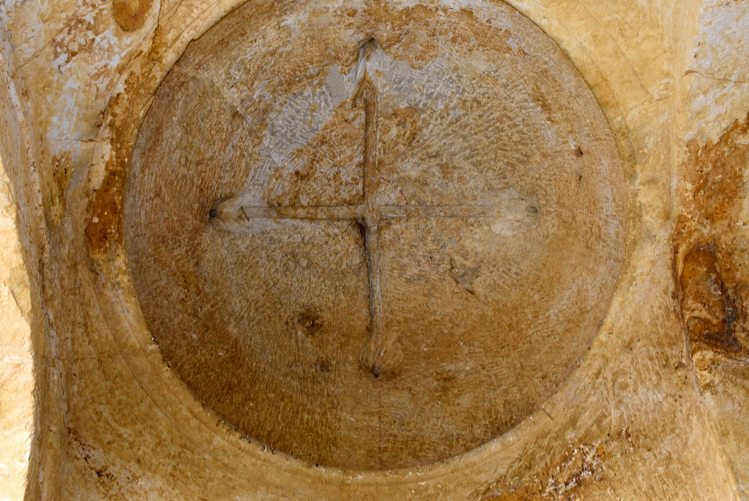 Some parts like this rock-carved dome are still standing in the monastery. (AA Photo)