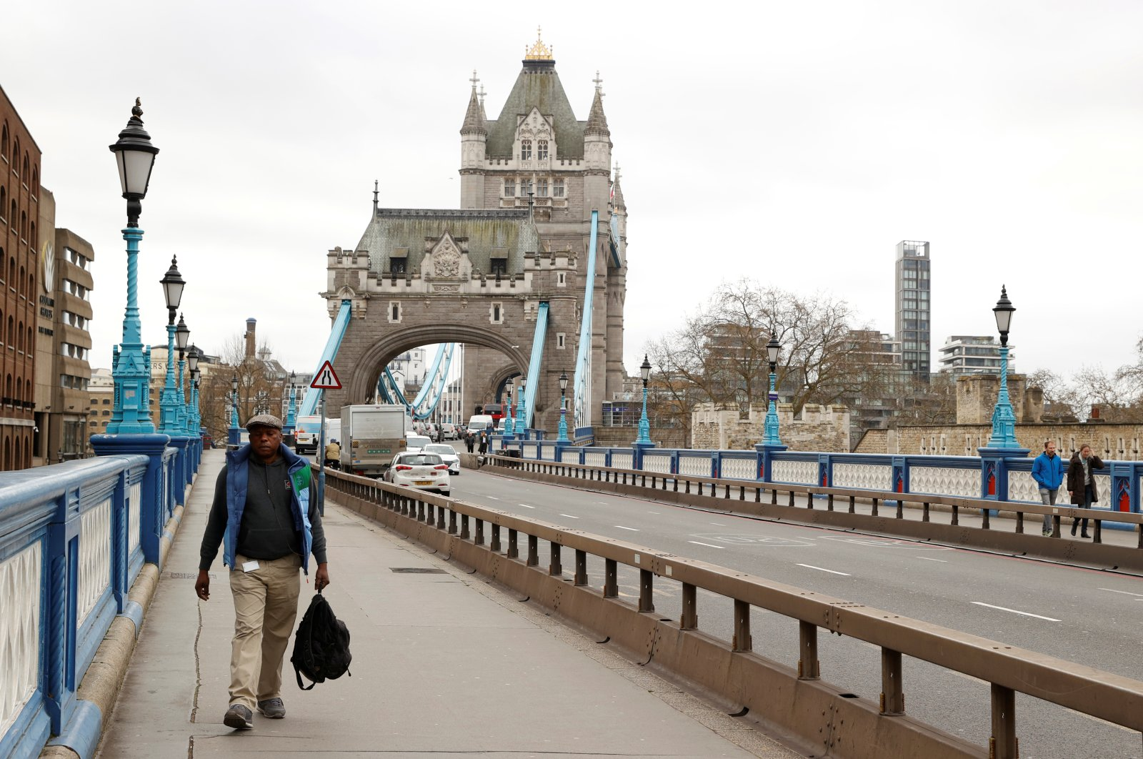 General view of Tower Bridge in London as the spread of the coronavirus disease (COVID-19) continues, London, March 18, 2020. (REUTERS Photo)