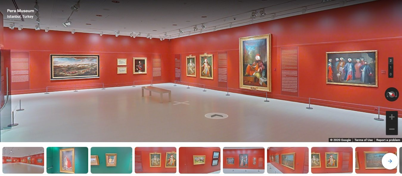 Still shot from virtual tours of Pera Museum.