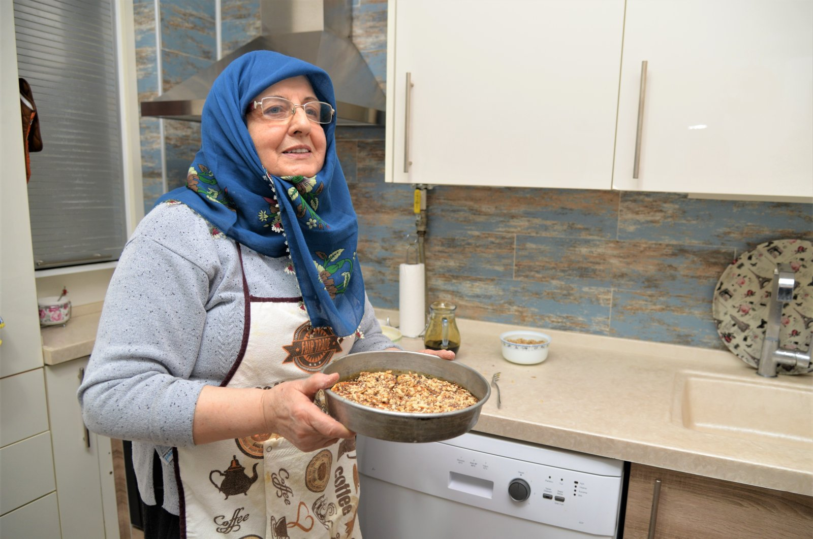 Necla Öztekin said the linga dessert is easy to make, yet incredibly delicious, Thursday, March 12, 2020. (AA Photo)