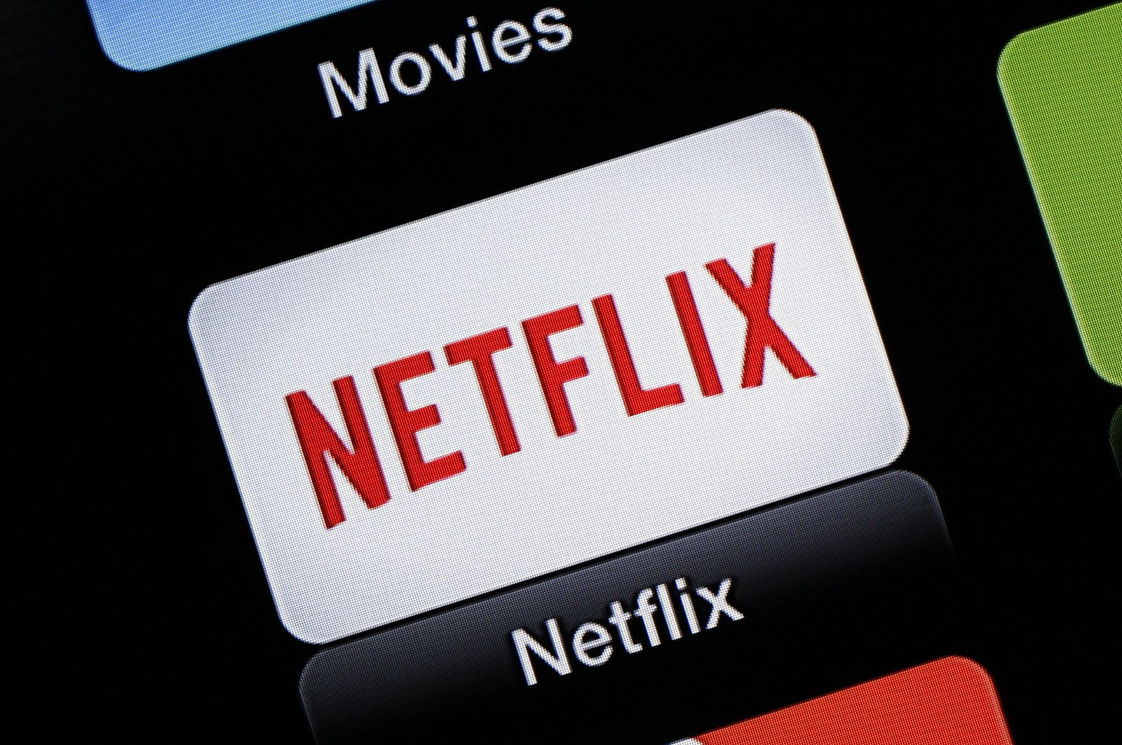 This June 24, 2015, file photo shows the Netflix Apple TV app icon, in South Orange, N.J. (AP Photo)