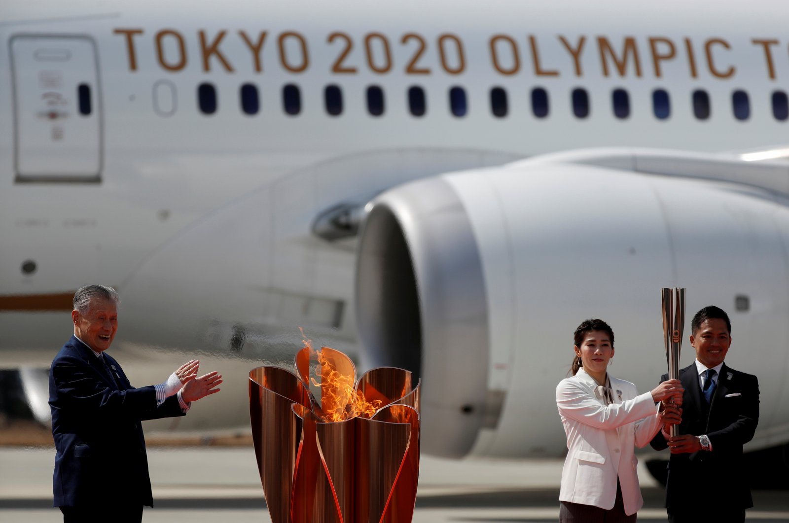 Olympic flame arrives in Japan ahead of Tokyo 2020 Games, Higashimatsushima, March 20, 2020. (Reuters Photo)