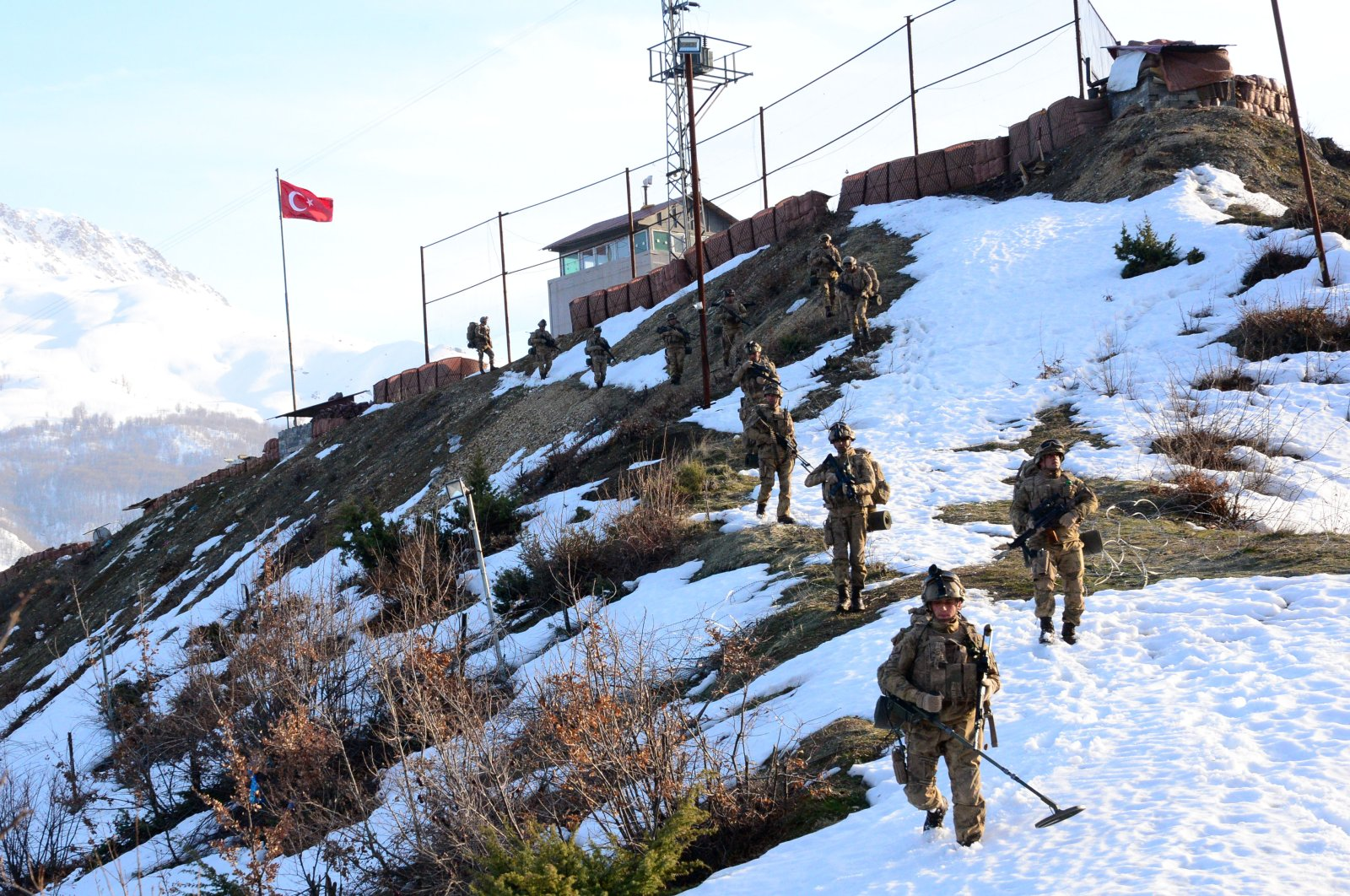 Turkish security forces regularly conduct counterterrorism operations in the eastern and southeastern provinces of Turkey where the PKK has attempted to establish a strong presence and bases. (AA Photo)
