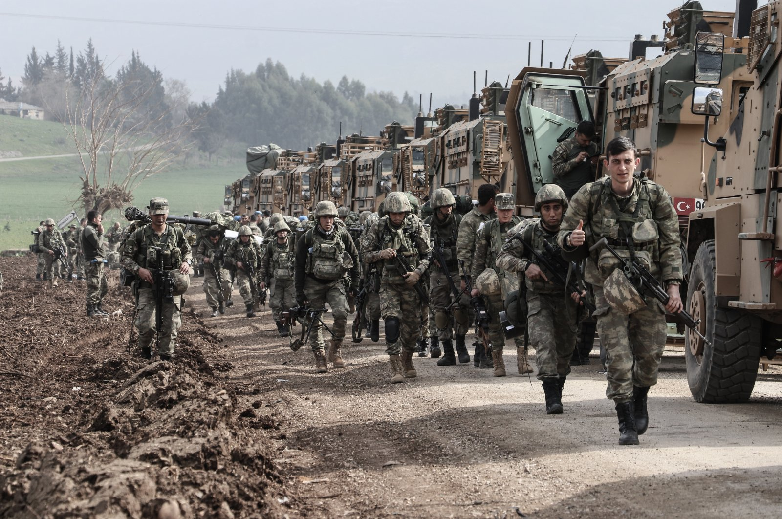 The Turkish Armed Forces (TSK) carries out cross-border operations against YPG/PKK terrorists in northern Syria. (AA Photo).