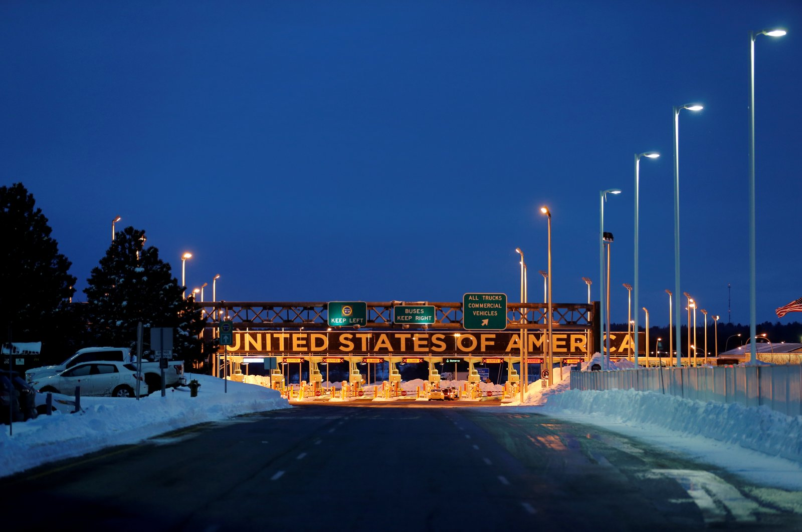 The Lacolle Border crossing into the United States is seen from Lacolle, Quebec, Canada, Feb. 13, 2017. (Reuters Photo)