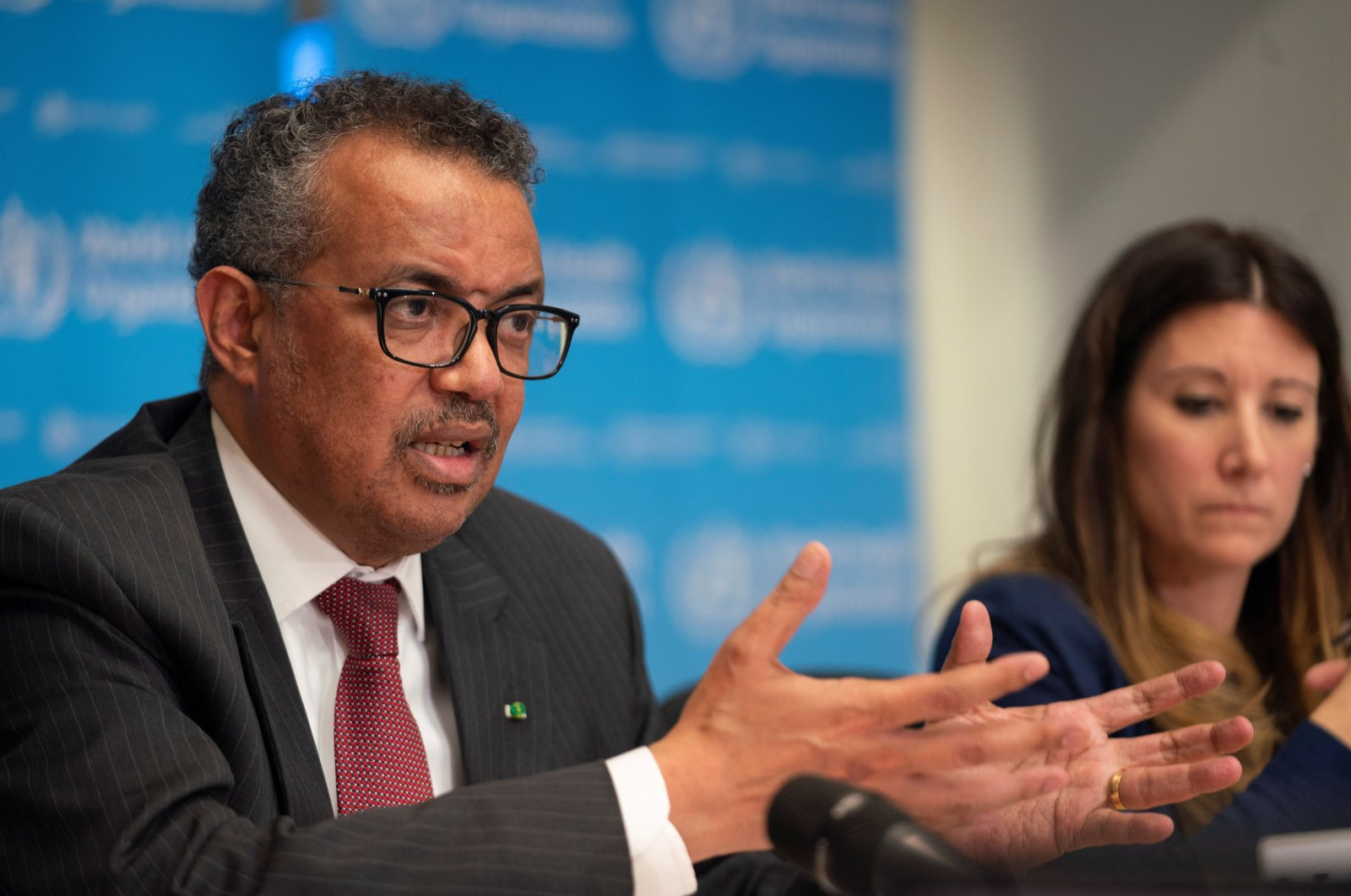 Director-General of World Health Organization (WHO) Tedros Adhanom Ghebreyesus attends a news conference on the outbreak of the coronavirus disease (COVID-19) in Geneva, Switzerland, March 16, 2020. (Reuters Photo)