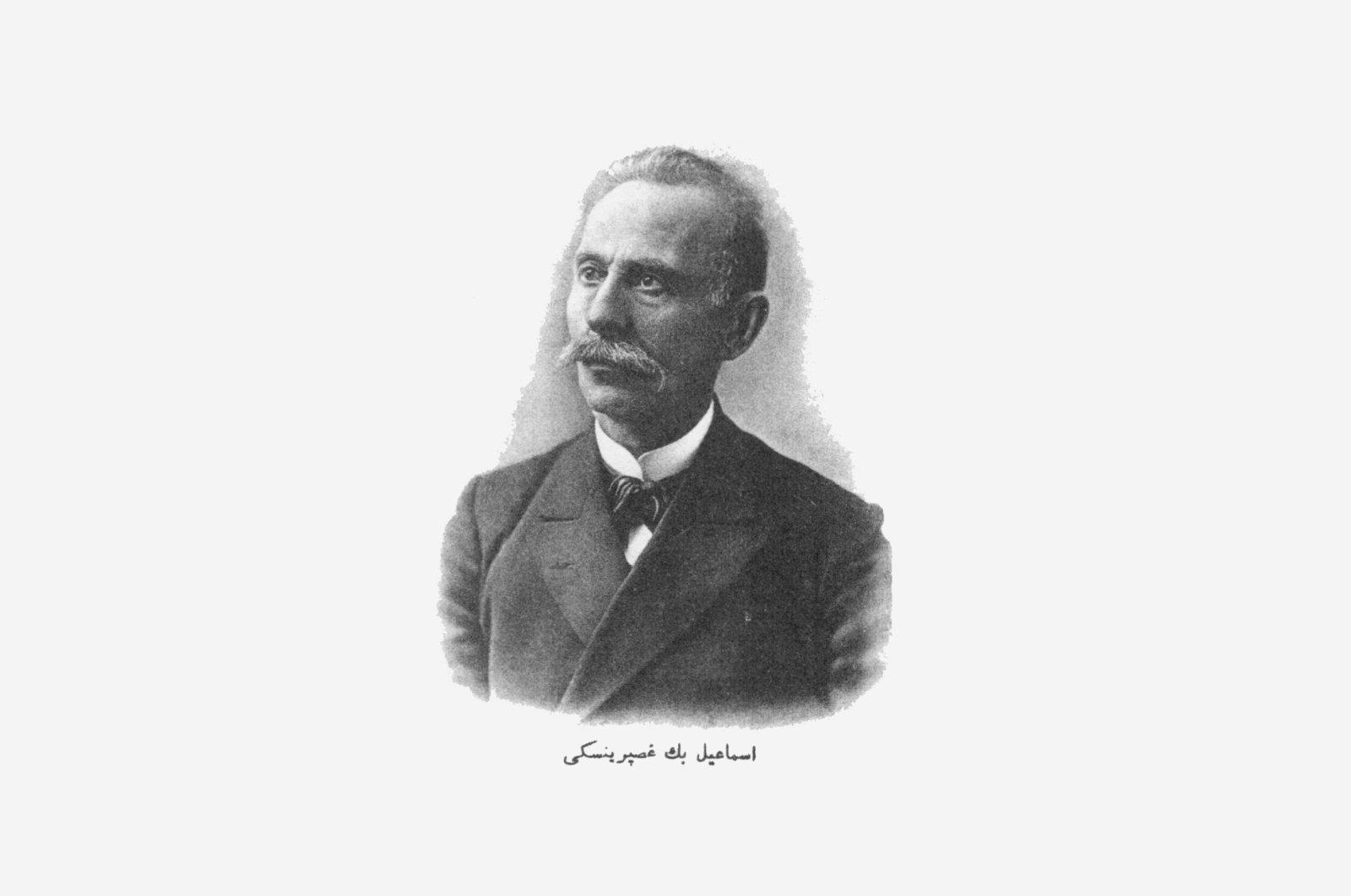 A portrait picture of Ismail Gaspıralı.