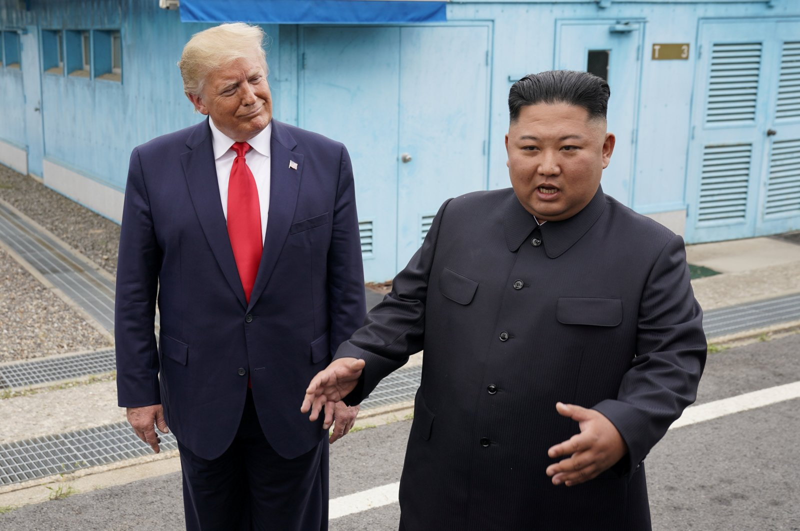 U.S. President Donald Trump meets with North Korean leader Kim Jong Un at the demilitarized zone separating the two Koreas, in Panmunjom, South Korea, June 30, 2019. (Reuters File Photo)