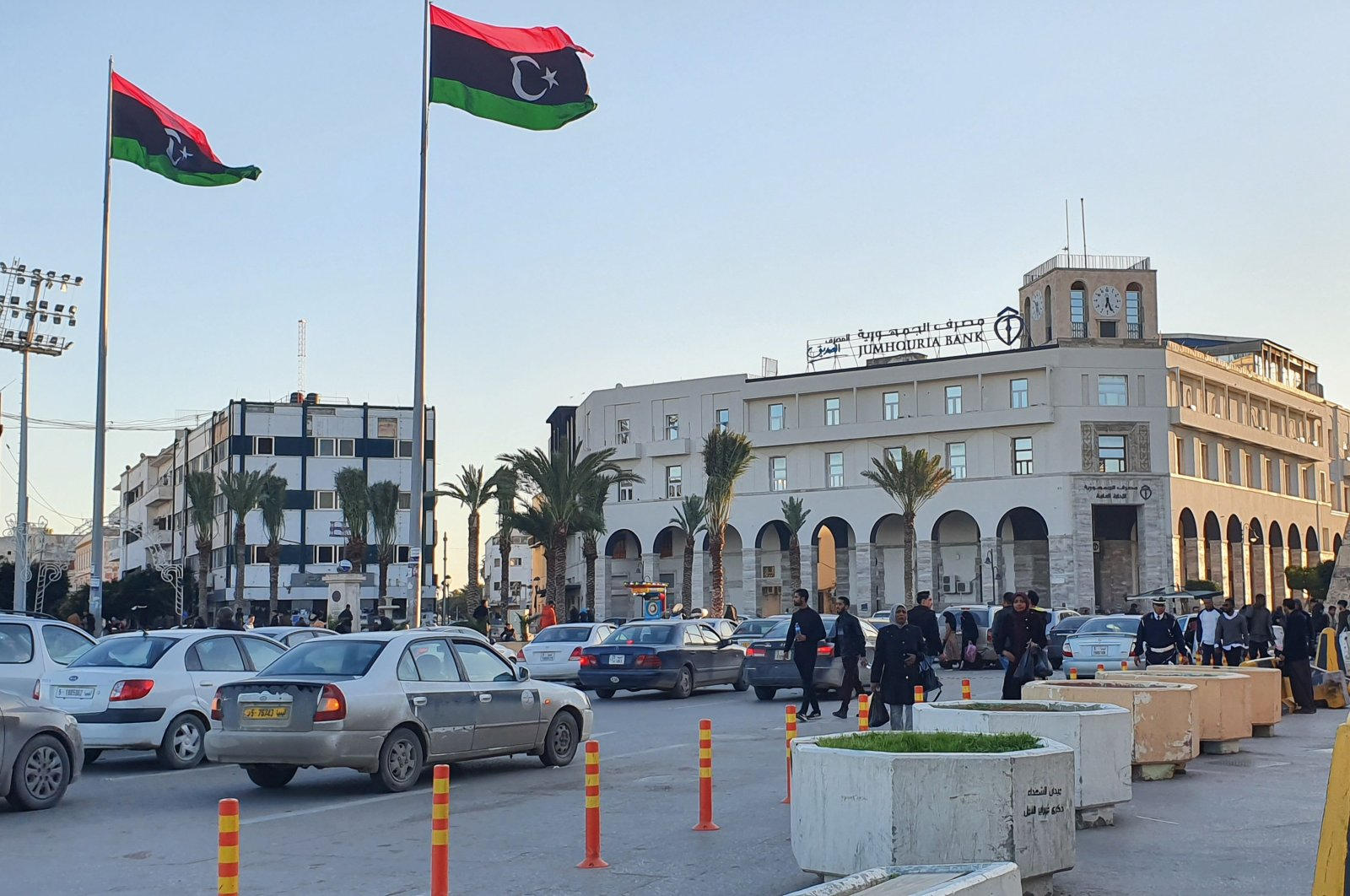 A picture taken on January 20, 2020, shows a view of Martyr's square in the Libyan capital Tripoli. (AFP Photo)