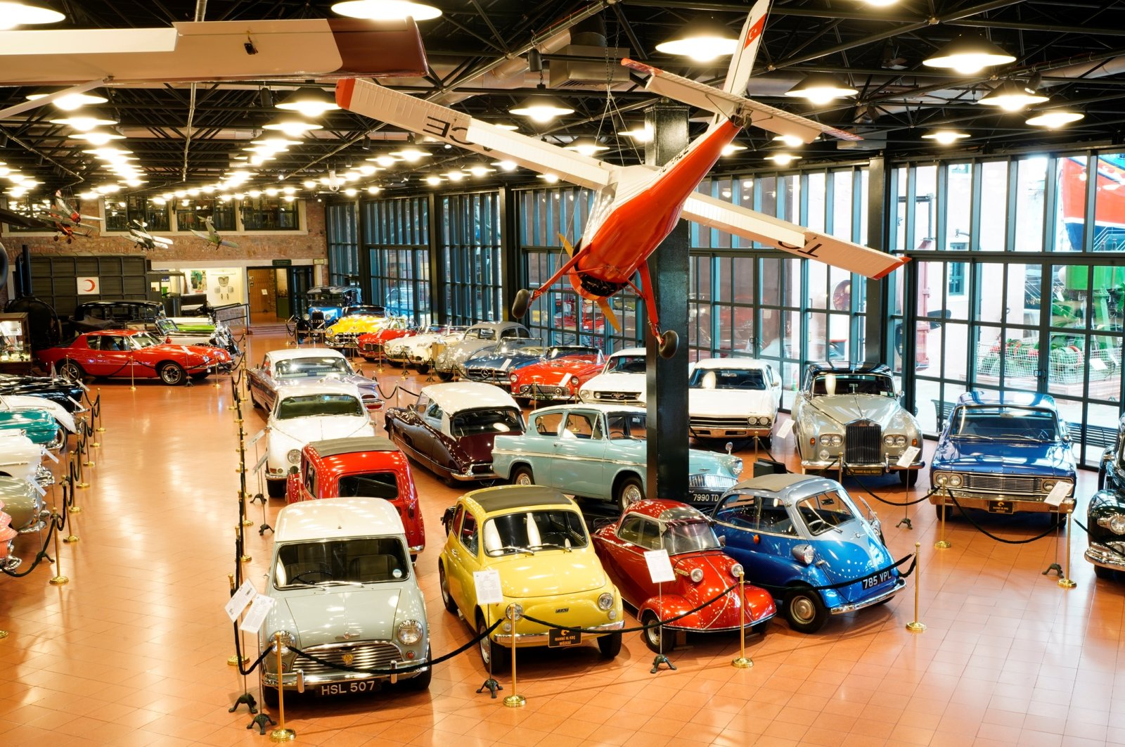 A general view from the classical car series of Rahmi Koç Museum.
