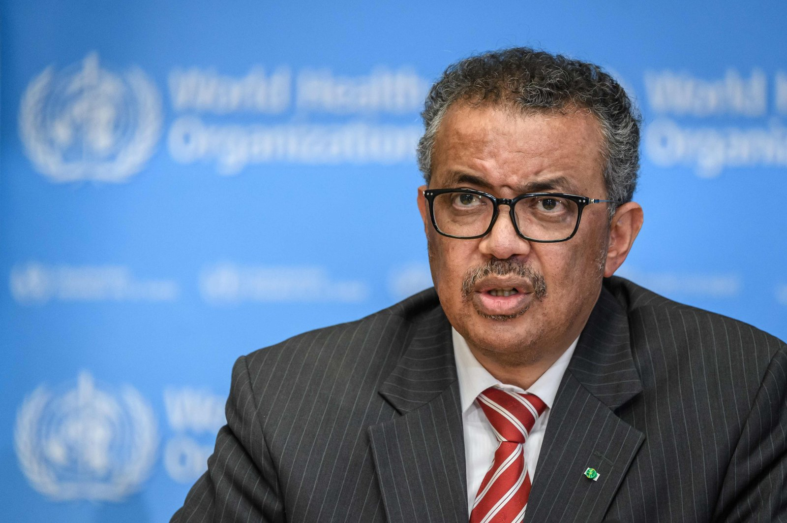 World Health Organization (WHO) Director-General Tedros Adhanom Ghebreyesus attends a daily press briefing on COVID-19 virus at the WHO headquaters, Geneva, March 11, 2020. (AFP Photo)