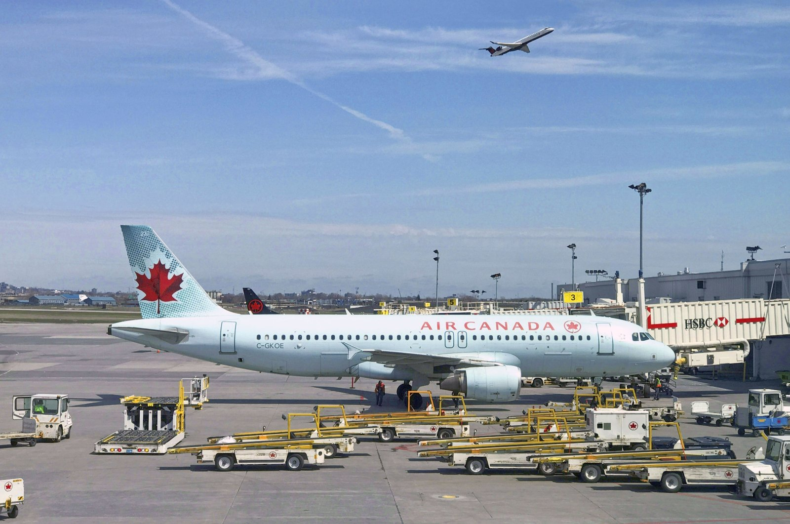 In this file photo, an Air Canada plane sits on the tarmac at Montreal-Pierre Elliott Trudeau International Airport near Montreal, Canada. (AFP Photo)