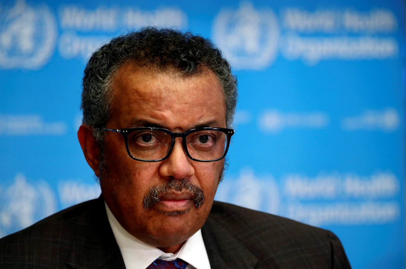 The director-general of the World Health Organization (WHO), Tedros Adhanom Ghebreyesus, attends a news conference on the situation of the coronavirus, Geneva, Feb. 28, 2020. (Reuters Photo)
