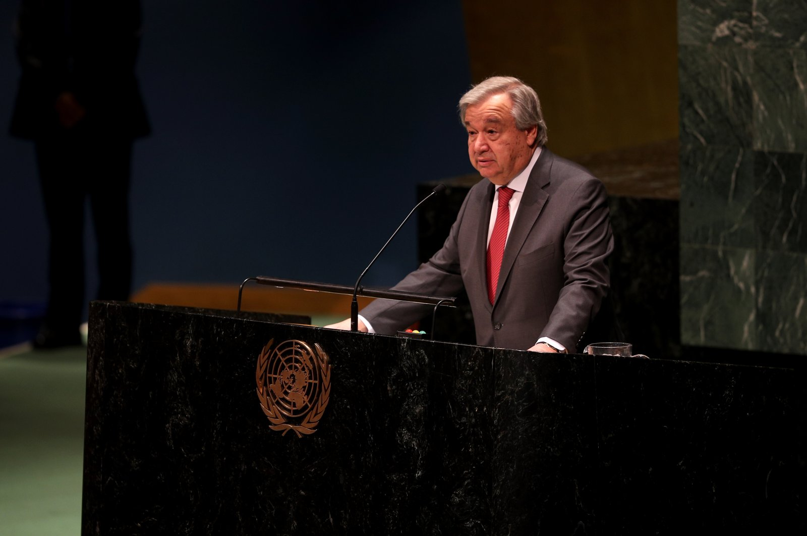 U.N. Secretary-General Antonio Guterres at a conference on World Women's day March 8, 2020 (AA Photo)