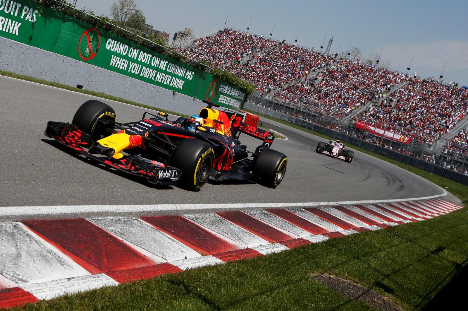Red Bull's Daniel Ricciardo in action during Canada Grand Prix Formula One Race in Montreal, June 11, 2017. (Reuters Photo)