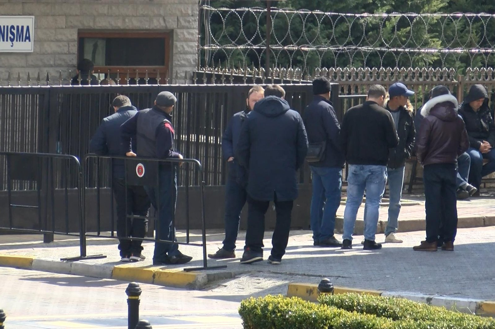 Relatives and friends of victims wait outside a morgue where bodies of victims were taken to in Istanbul, Saturday, March 21, 2020. (DHA Photo)