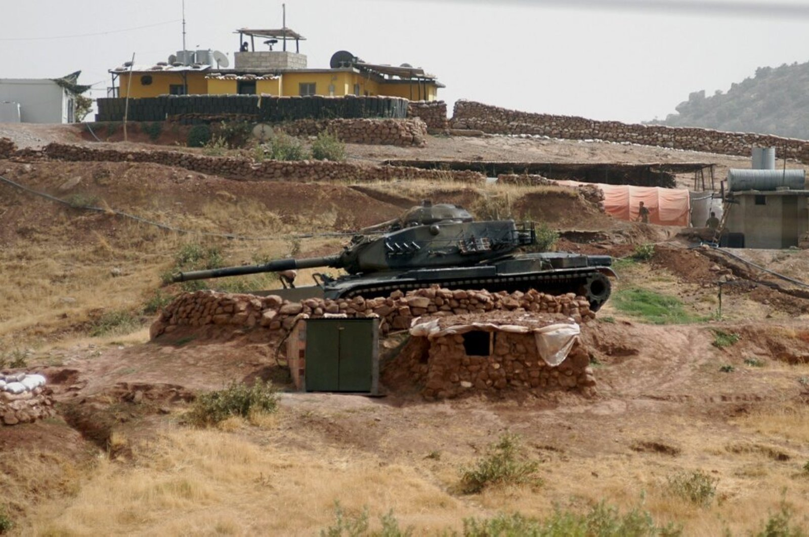 This undated photo shows a Turkish tank in northern Iraq.