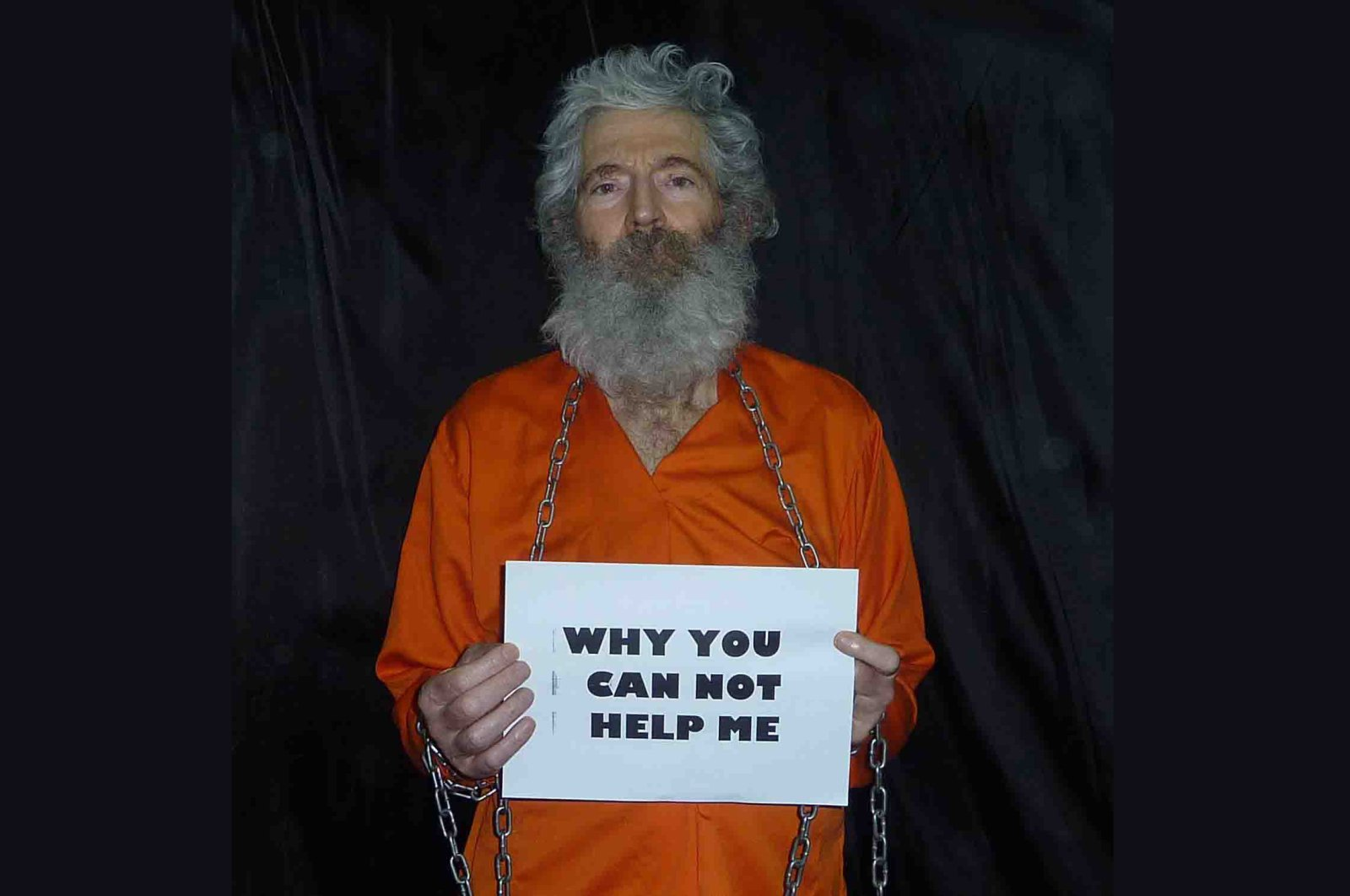 This undated handout photo provided by the family of Robert Levinson, shows retired-FBI agent Robert Levinson in a photo the family received in April 2011. (AP Photo)