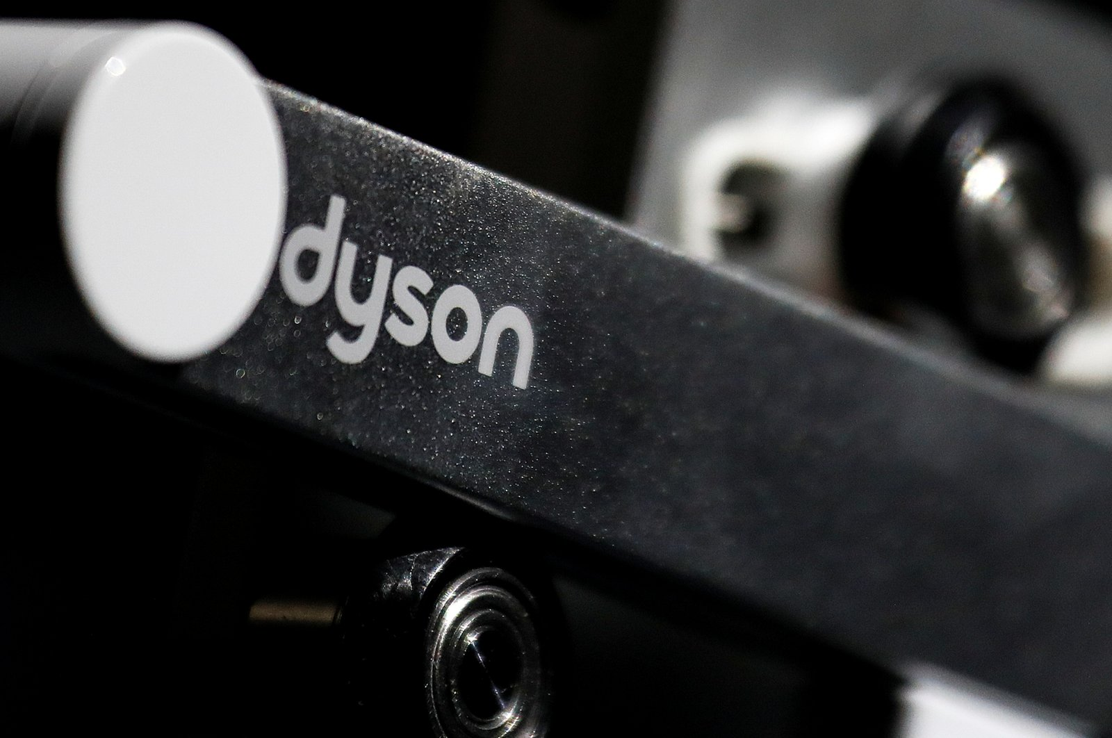 A Dyson logo is seen on one of the company's products presented during an event in Beijing, China, Sept. 12, 2018. (Reuters File Photo)