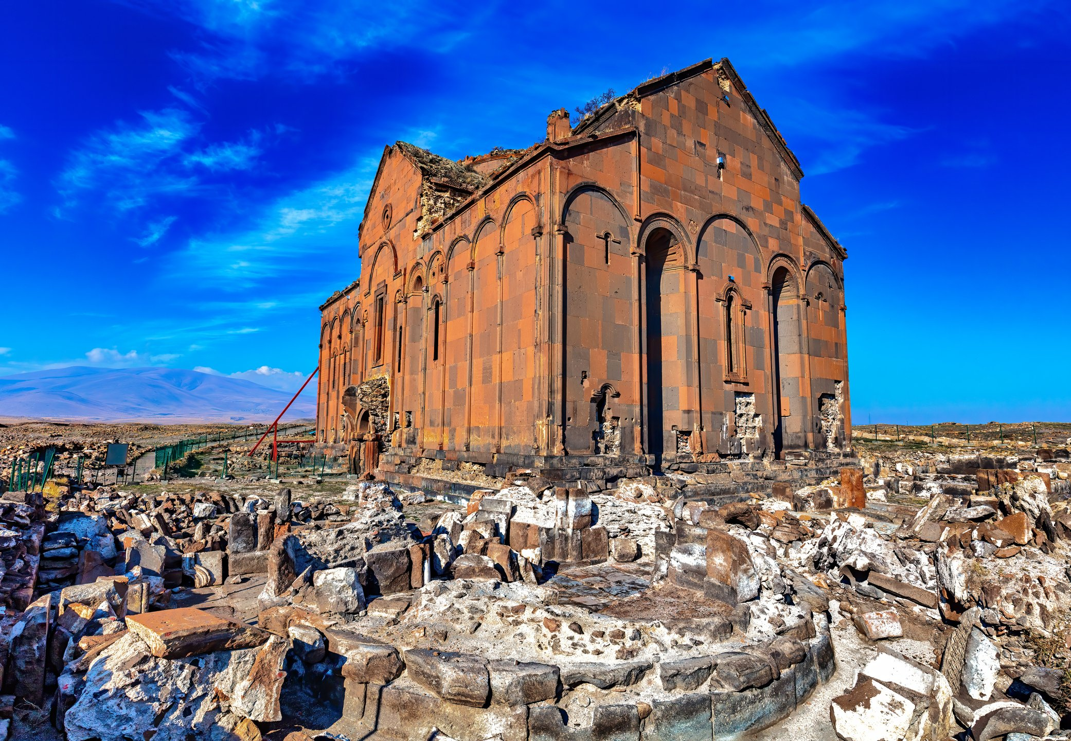 The ruins of the Cathedral of Ani are seen on the Turkish-Armenian border. (iStock Photo)
