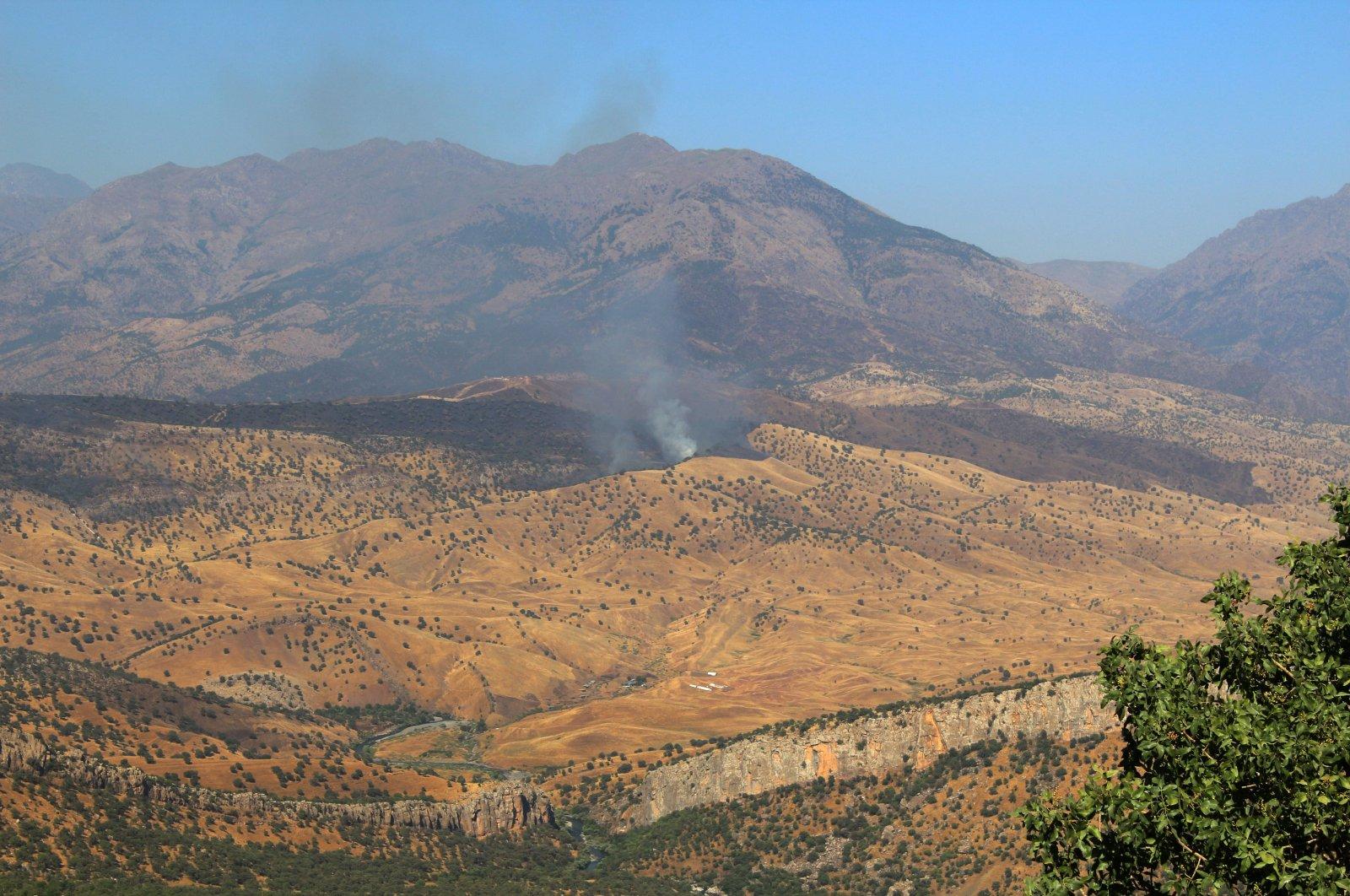 The Qandil area in northern Iraq, where PKK terrorists' camps are located. (IHA File Photo)