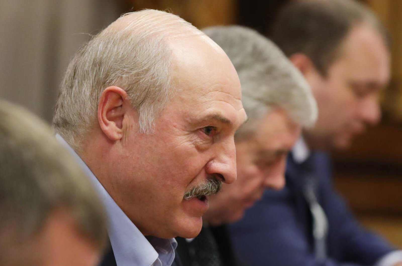 File photo of the Belarusian President Alexander Lukashenko, Feb. 7 2020. (EPA Photo)