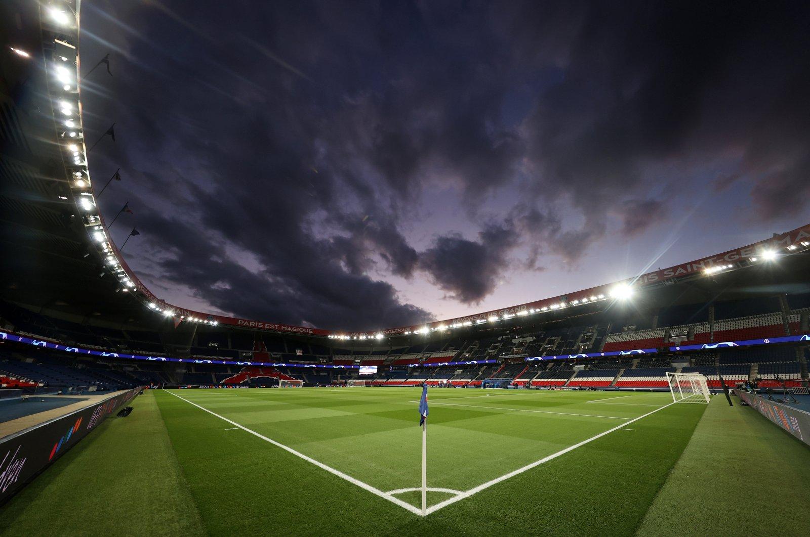 General view inside the Parc des Princes stadium, Paris, France, before the match between Paris Saint-Germain and Borussia Dortmund, March 11, 2020. (REUTERS photo)