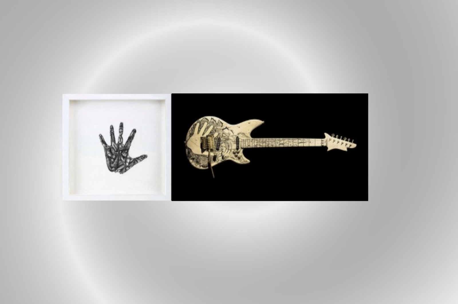 """Ayça Telgeren's """"Shark Guitar"""" at """"Almost There"""" online exhibit. (Courtesy of British Council)"""
