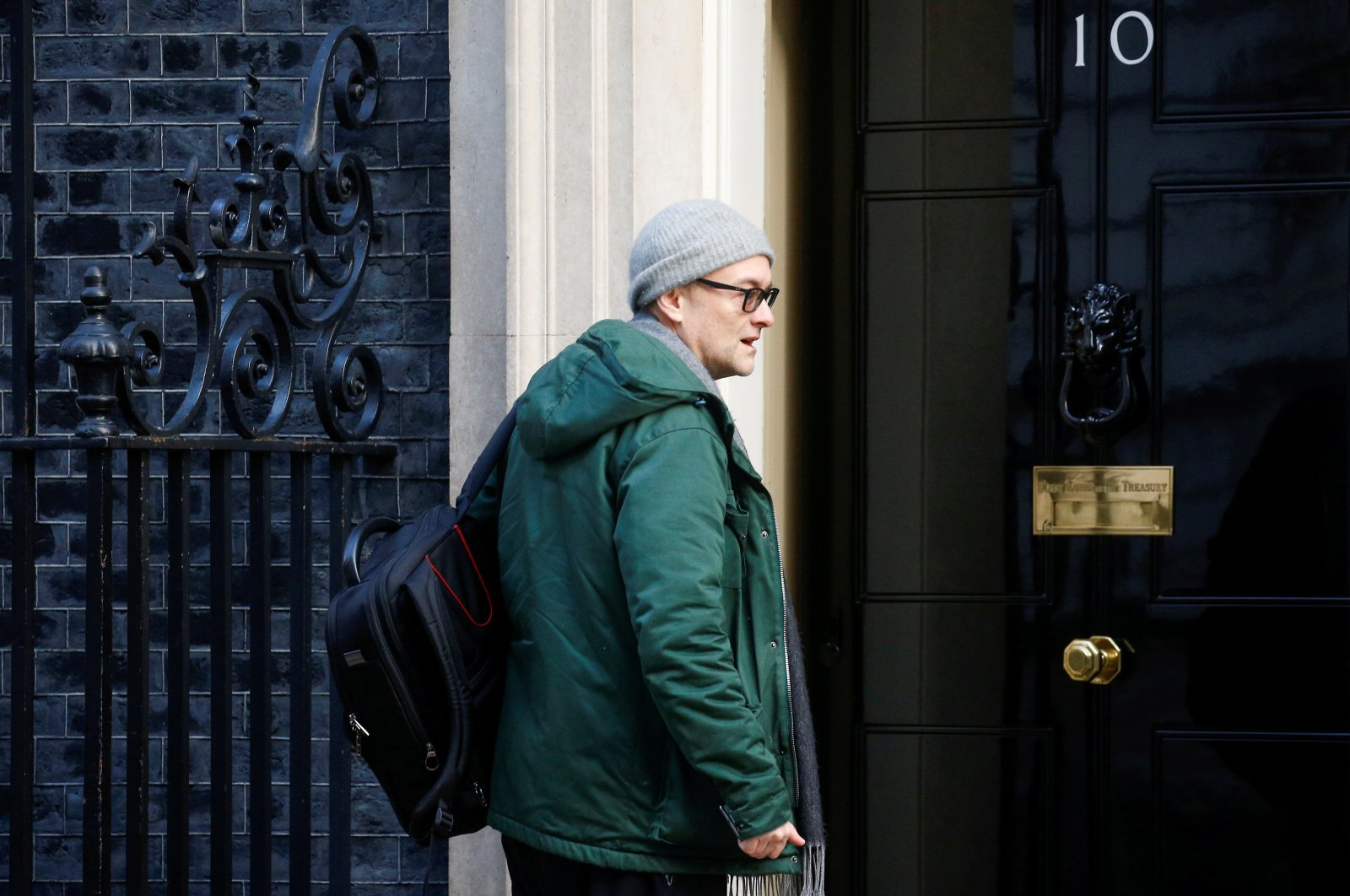 Dominic Cummings, special adviser to British Prime Minister Boris Johnson arrives for a cabinet meeting to address the government's response to the global COVID-19 coronavirus outbreak, at Downing Street in London, Britain March 12, 2020. (REUTERS Photo)
