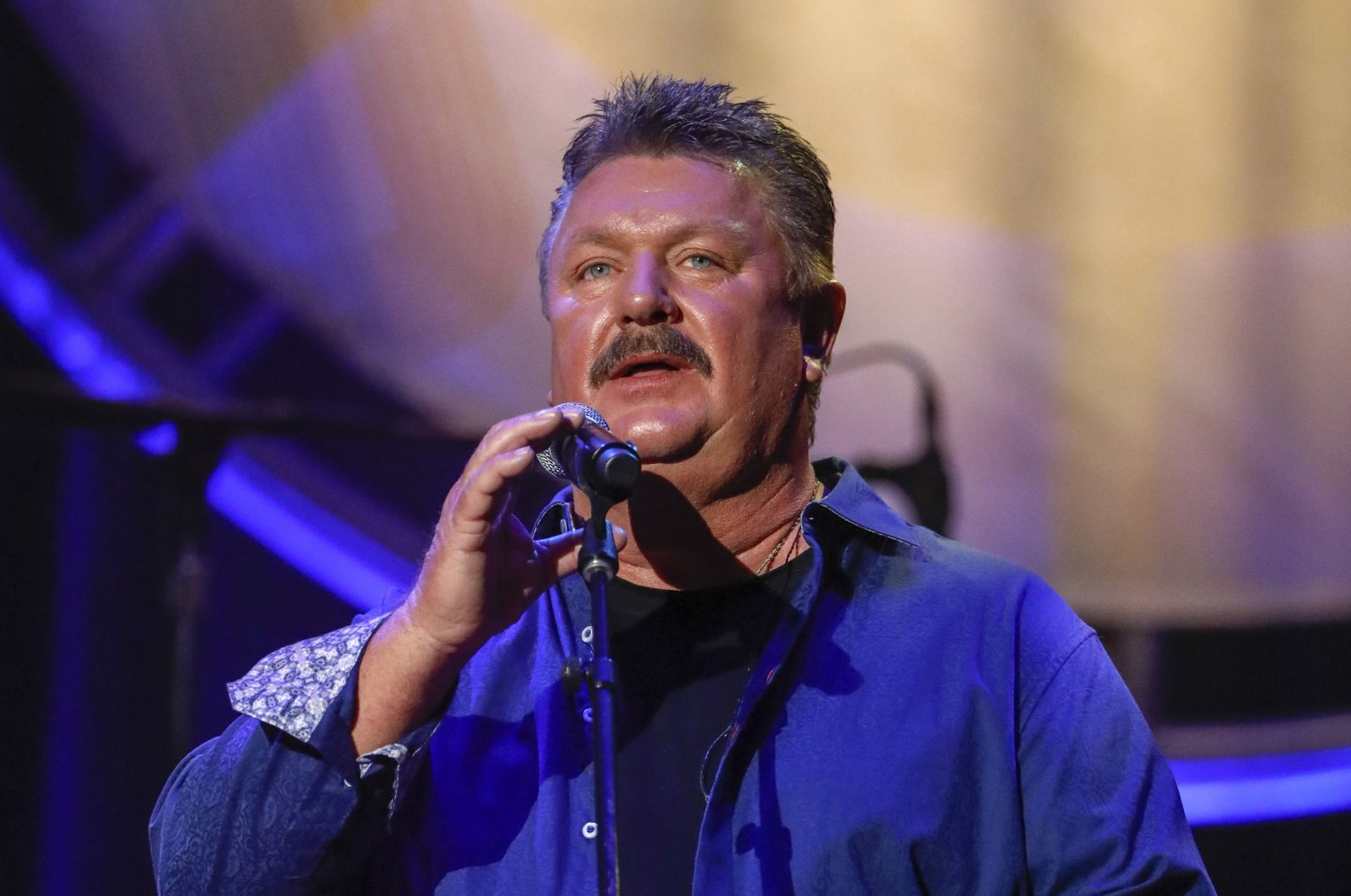 This file photo dated Aug. 22, 2018, shows Joe Diffie performing at the 12th annual ACM Honors in Nashville, Tenn. (AP Photo)