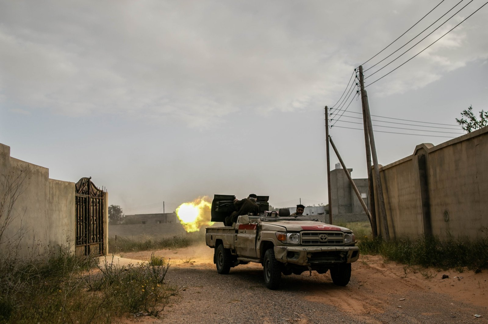 The internationally recognized Government of National Accord (GNA) in Libya last week launched Operation Peace Storm to stop continuous attacks of warlard Gen. Haftar in Tripoli, Saturday, March 28, 2020 (AA Photo)