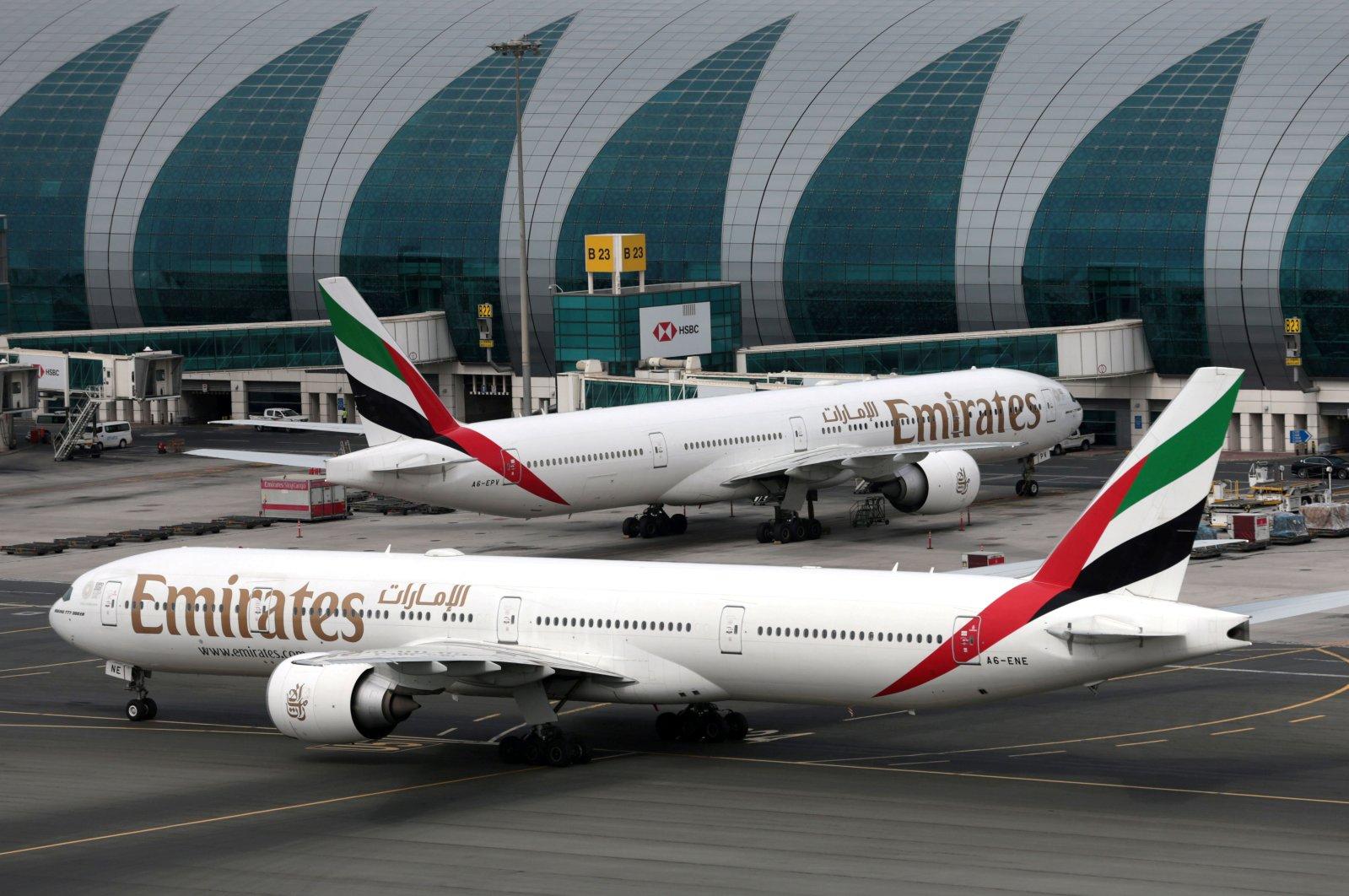 Emirates Airline Boeing 777-300ER planes are seen at Dubai International Airport in Dubai, United Arab Emirates, Feb. 15, 2019. (Reuters Photo)