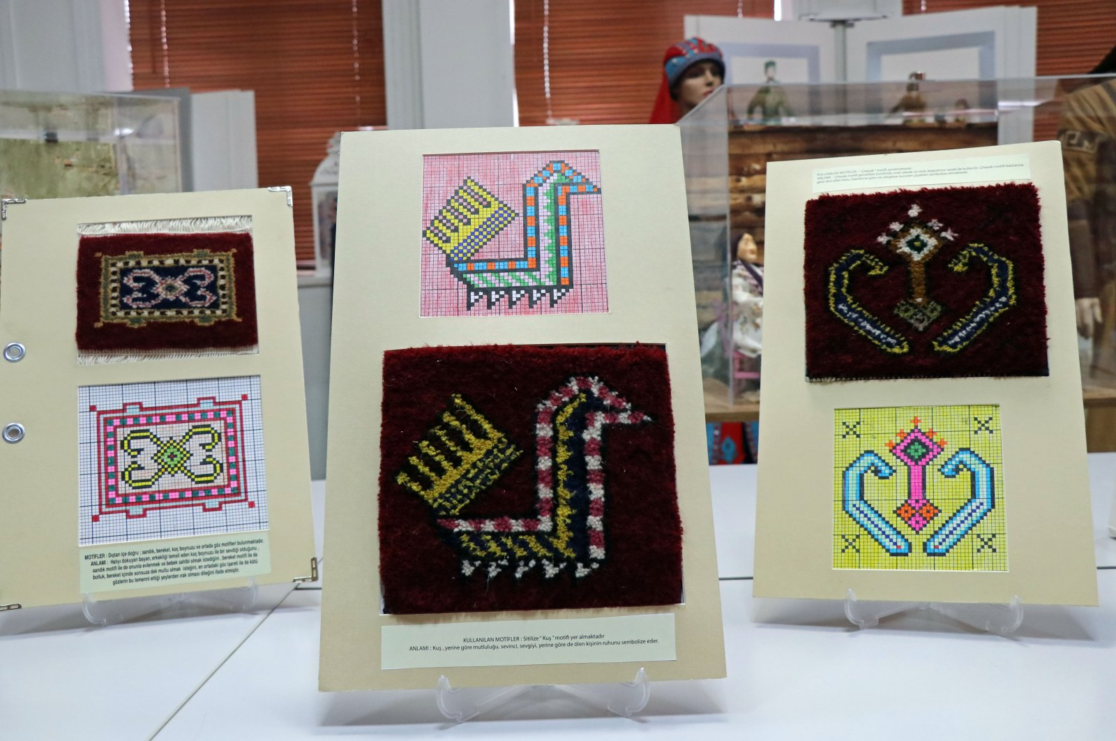 Some examples of motifs embroidered on carpets and rugs by Anatolian women for centuries. (AA Photo)