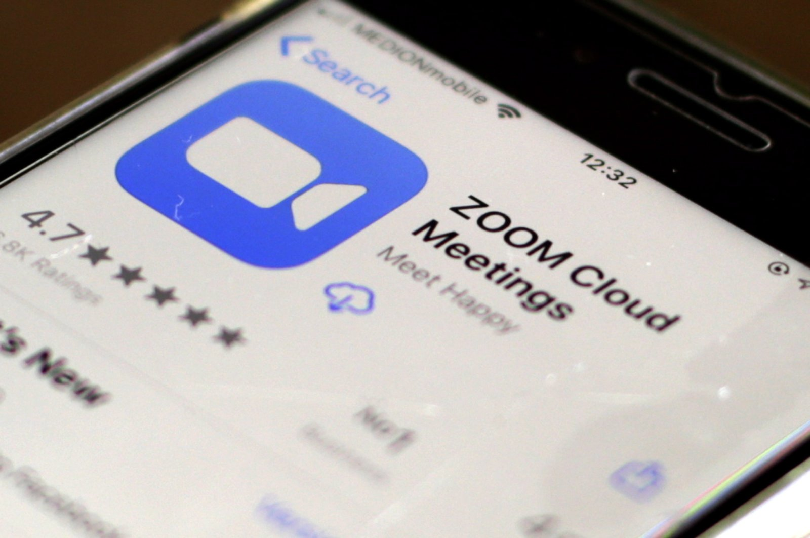 The icon of the videoconferencing app Zoom is displayed on an iPhone in Oestrich-Winkel, Germany, 01 April 2020. (EPA Photo)