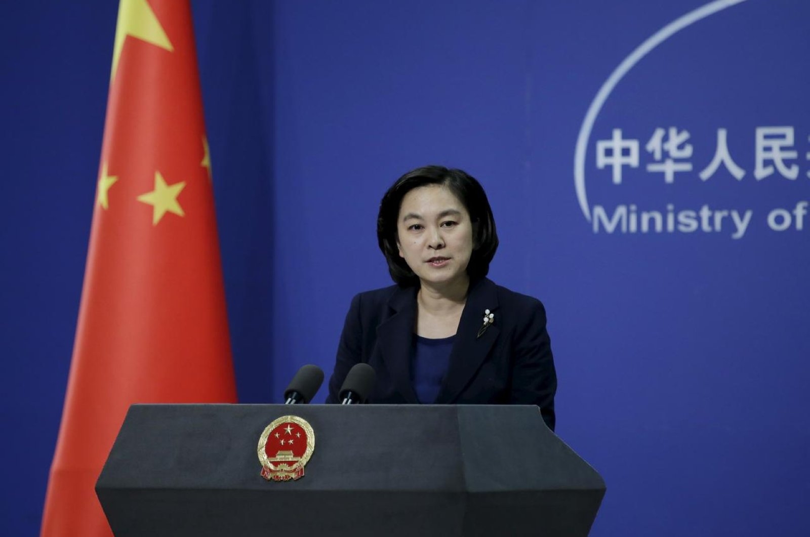 Foreign Ministry spokeswoman Hua Chunying speaks in an undated photo. (Reuters Photo)