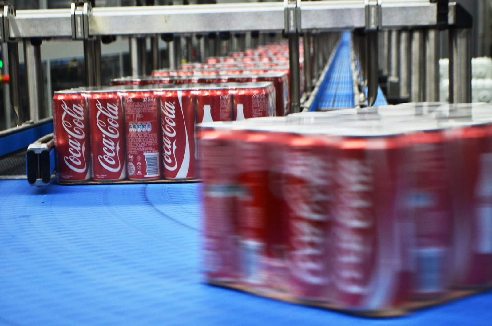 Coca Cola Içecek's factory in western Turkey's Isparta, Sunday, March 29, 2017.