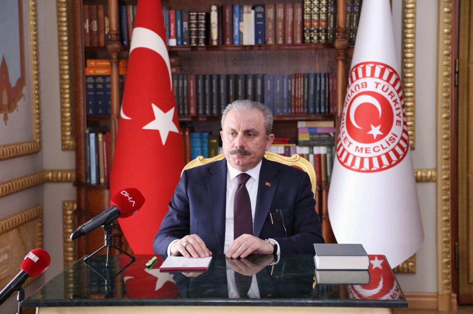 Turkey's Parliament Speaker Mustafa Şentop (DHA Photo)