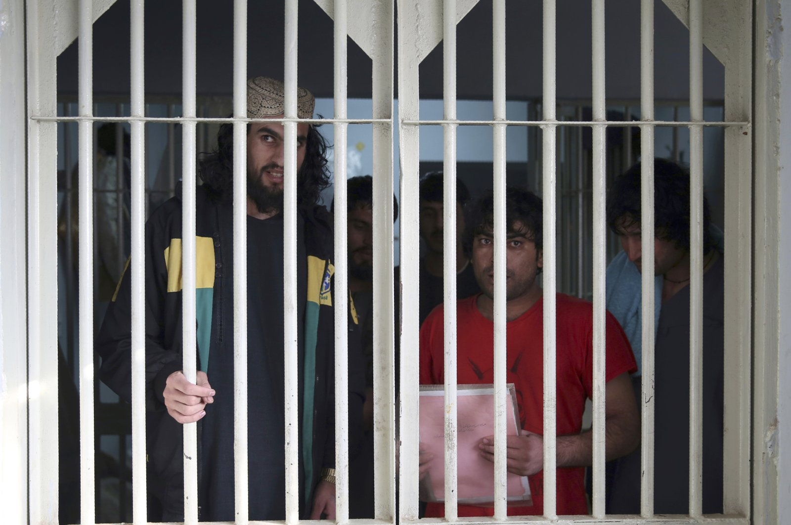 In this Dec. 14, 2019, file photo, jailed Taliban are seen inside the Pul-e-Charkhi jail in Kabul, Afghanistan. (AP Photo)
