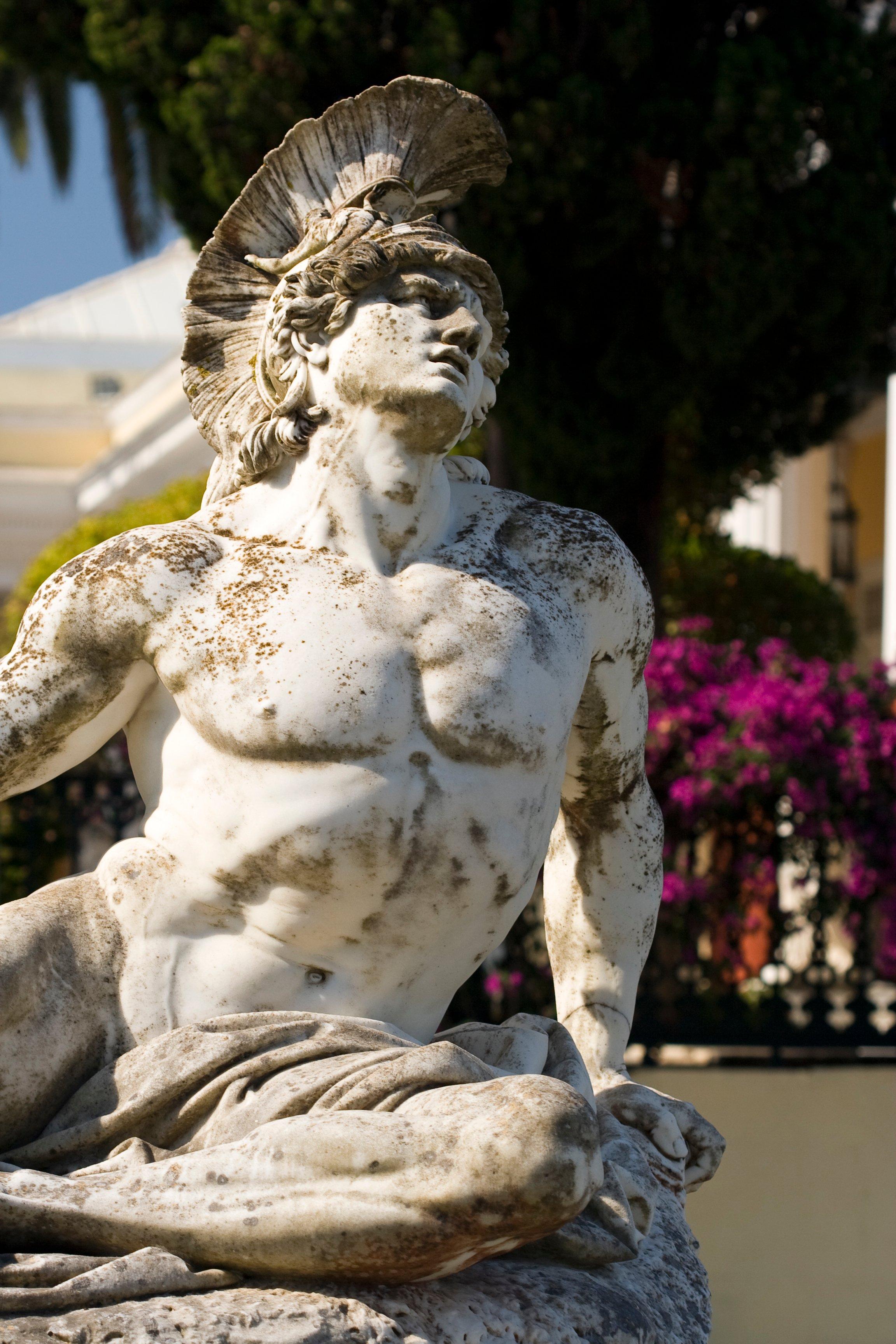 Achilles Statue in the Achillion, Corfu, Greece. (iStock Photo)