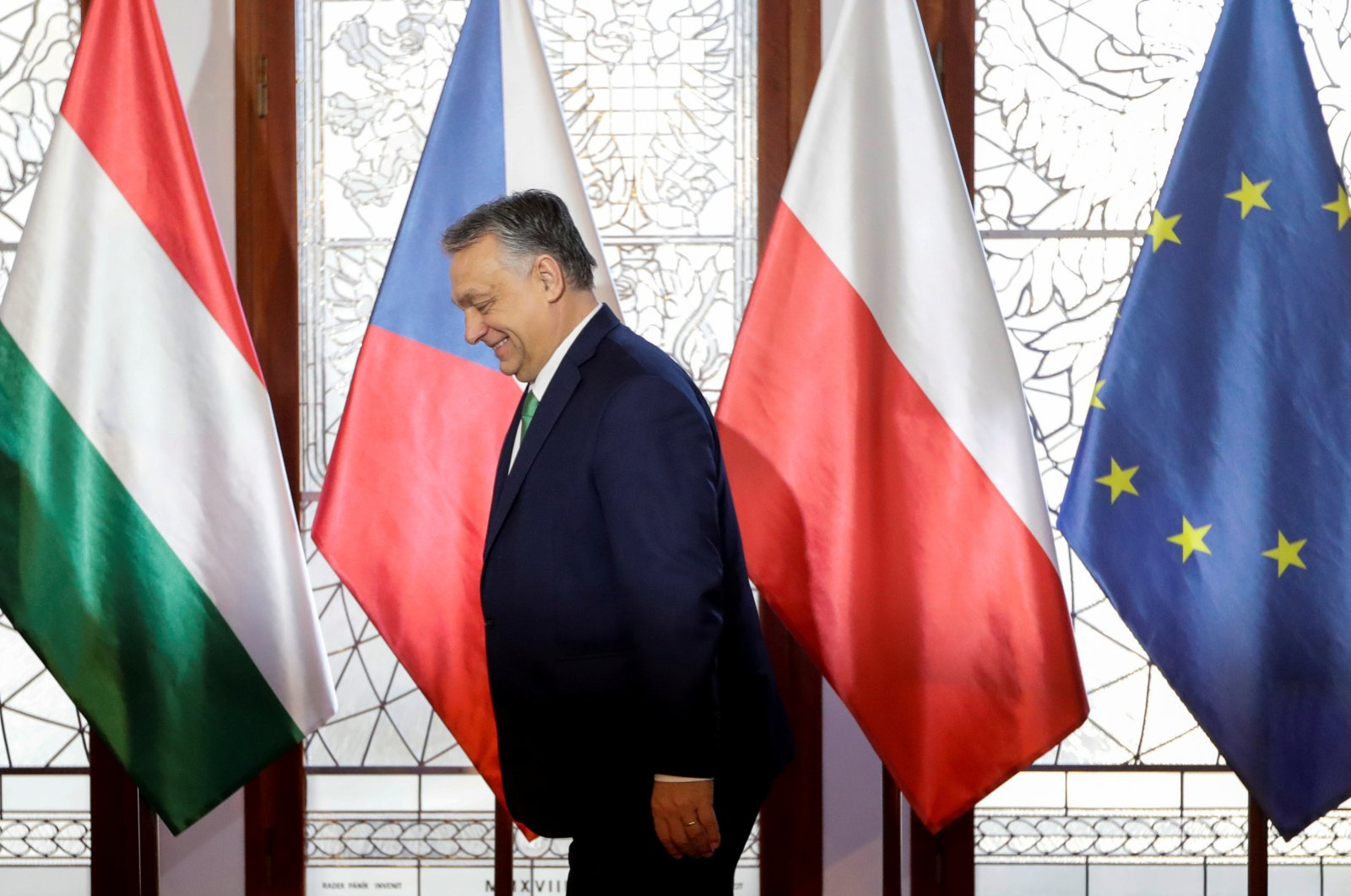 Hungary's Prime Minister Viktor Orban attends the summit of the Visegrad Group (V4) countries, in Prague, Czech Republic, March 4, 2020. (Reuters Photo)