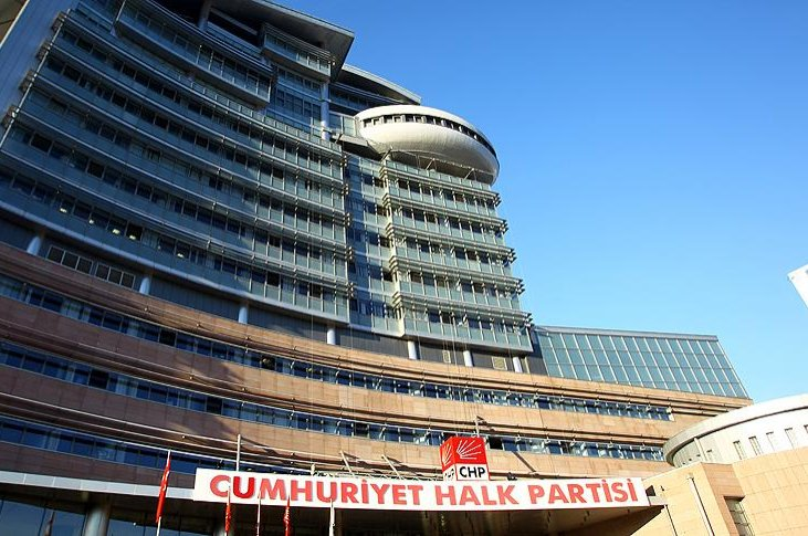 The main opposition Republican People's Party's (CHP) headquarters in the capital Ankara (AA Photo)