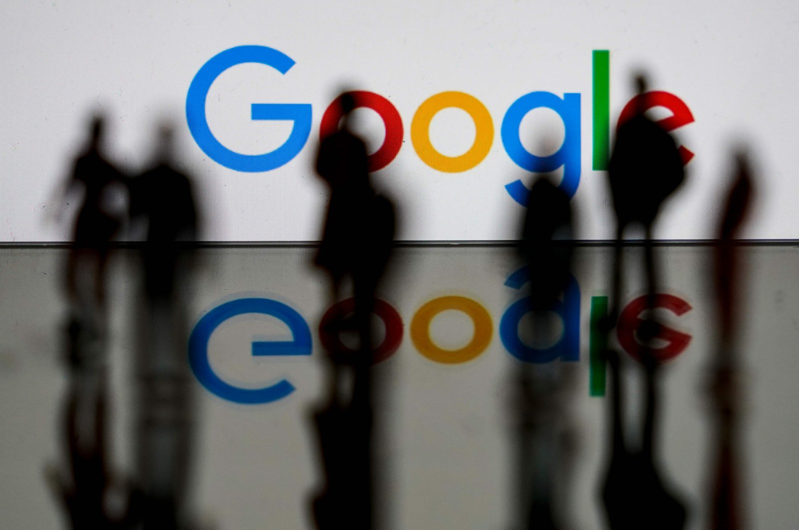 The Google logo is pictured in Brussels, Feb. 14, 2020. (AFP Photo)