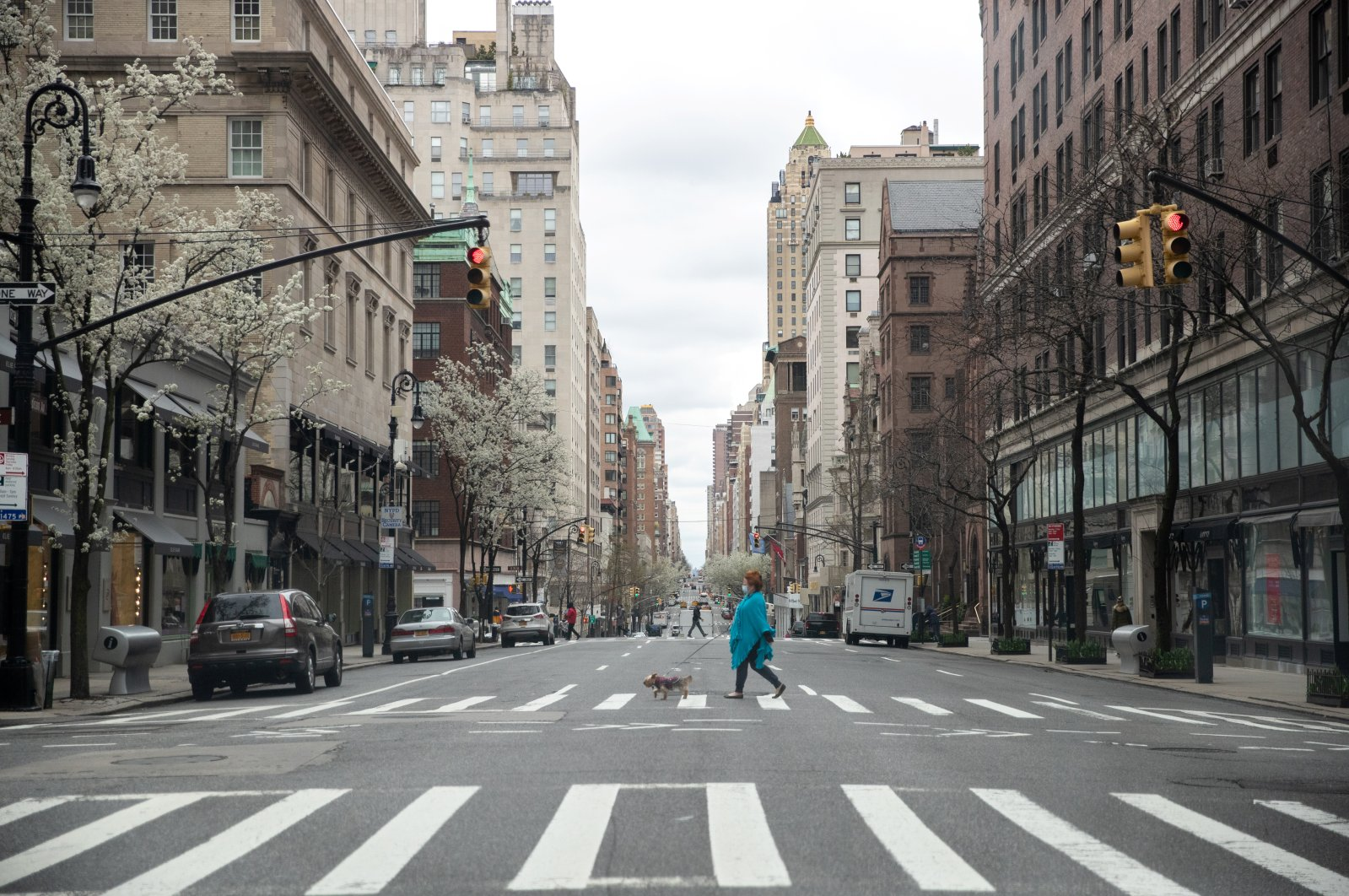 A nearly empty Madison Avenue is seen during the outbreak of COVID-19 in New York City, U.S., Tuesday, March 31, 2020. (Reuters Photo)